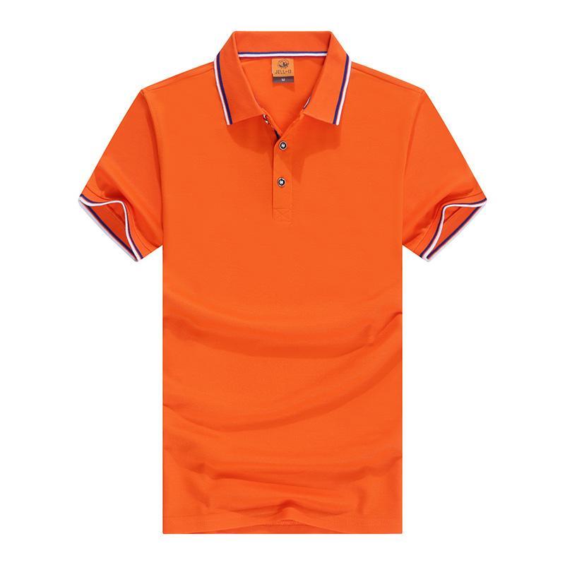 织绵花朵短袖翻领T恤POLO衫工作衣服广告衫文化衫HM-2063