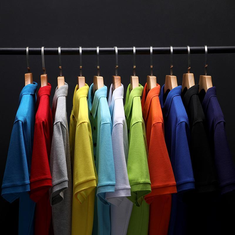 衫少爷纯色短袖翻领T恤POLO衫工作衣服广告衫文化衫HM-2108
