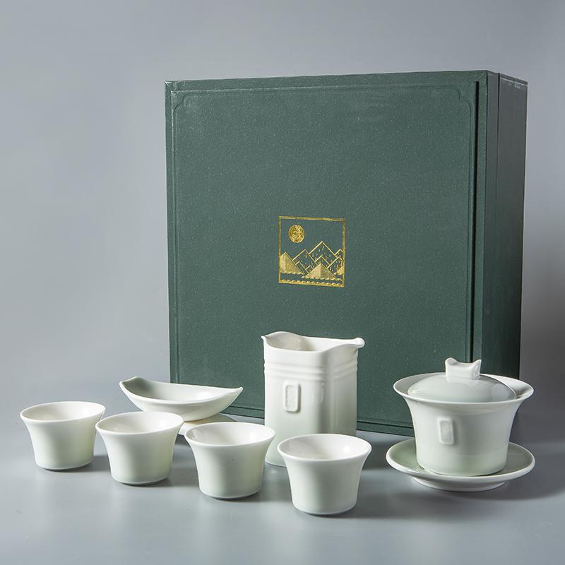 【古时候】瓷器小清新中式陶瓷功夫茶具纯雅江南系列G68