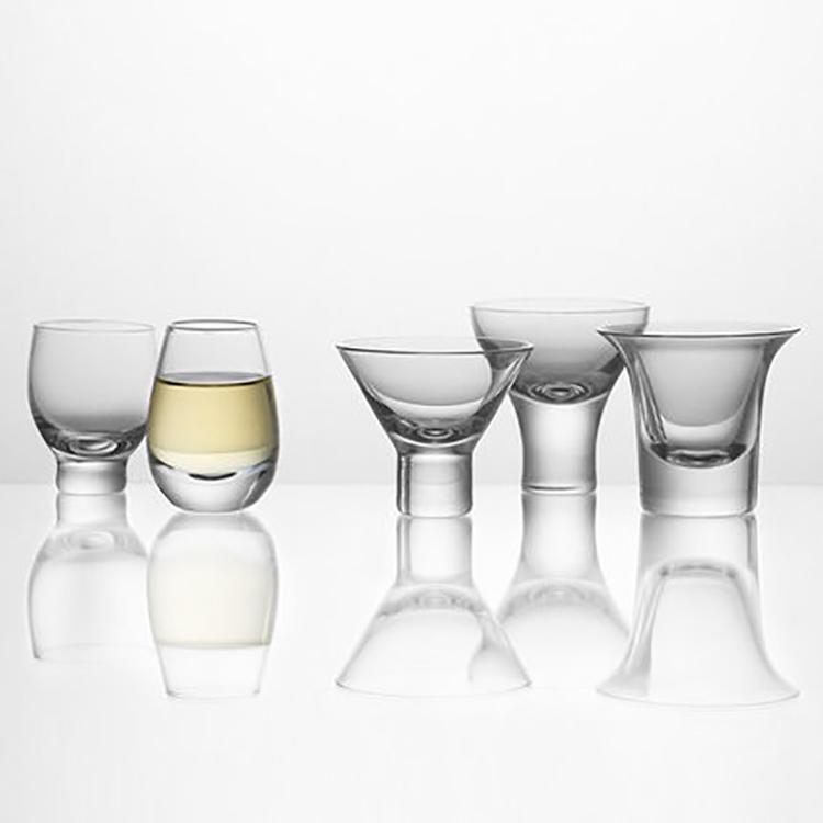 【哲品】宫商角徵羽无铅玻璃敞口酒杯高脚杯家用创意杯子
