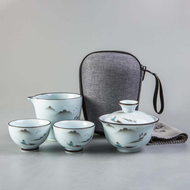【古时候】瓷器自在小系列自在中国风功夫茶具套装G05