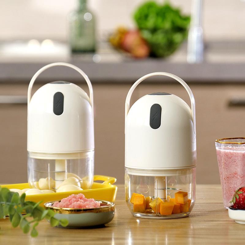 【幸福妈咪】便携式绞肉厨房料理机电动款辅食机打蒜泥器碎菜器A520-B