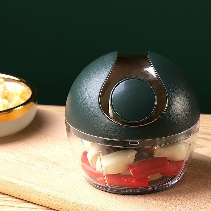 【幸福妈咪】手动拉蒜器迷你绞肉器家用辅食绞馅机料理机A510