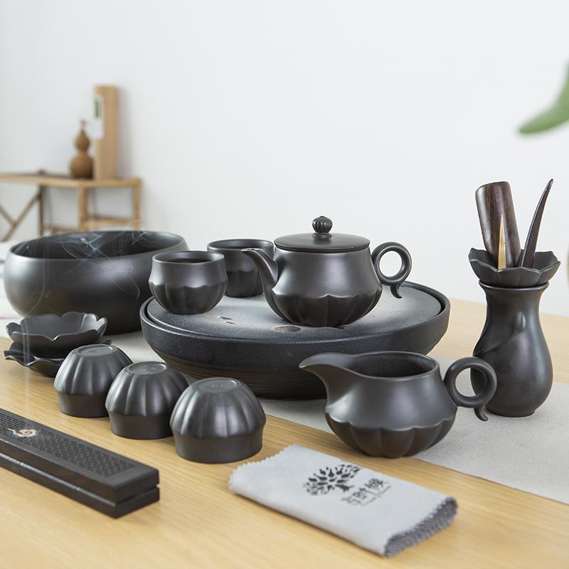 【古时候】瓷器紫砂茶器茶具功夫茶具套组好运连连G86