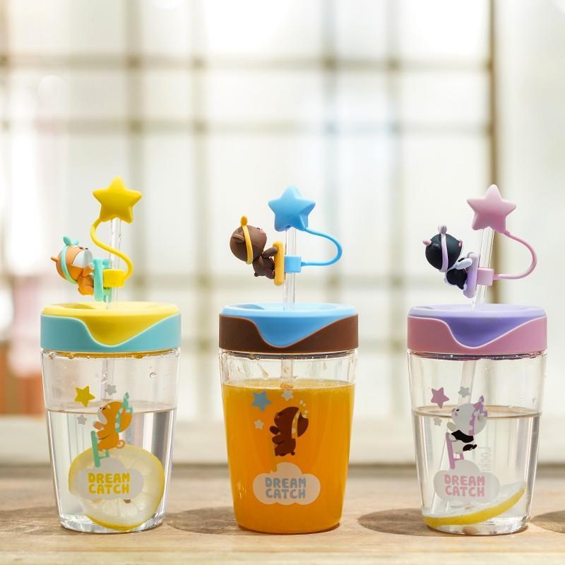 【乐扣乐扣】萌想Tritan吸管杯男女学生便携随手塑料茶水杯ABF779