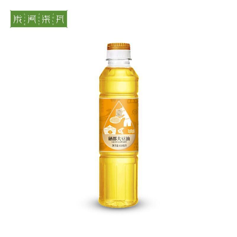 【陇间柒月】大豆油食用油色拉油植物油粮油418ml