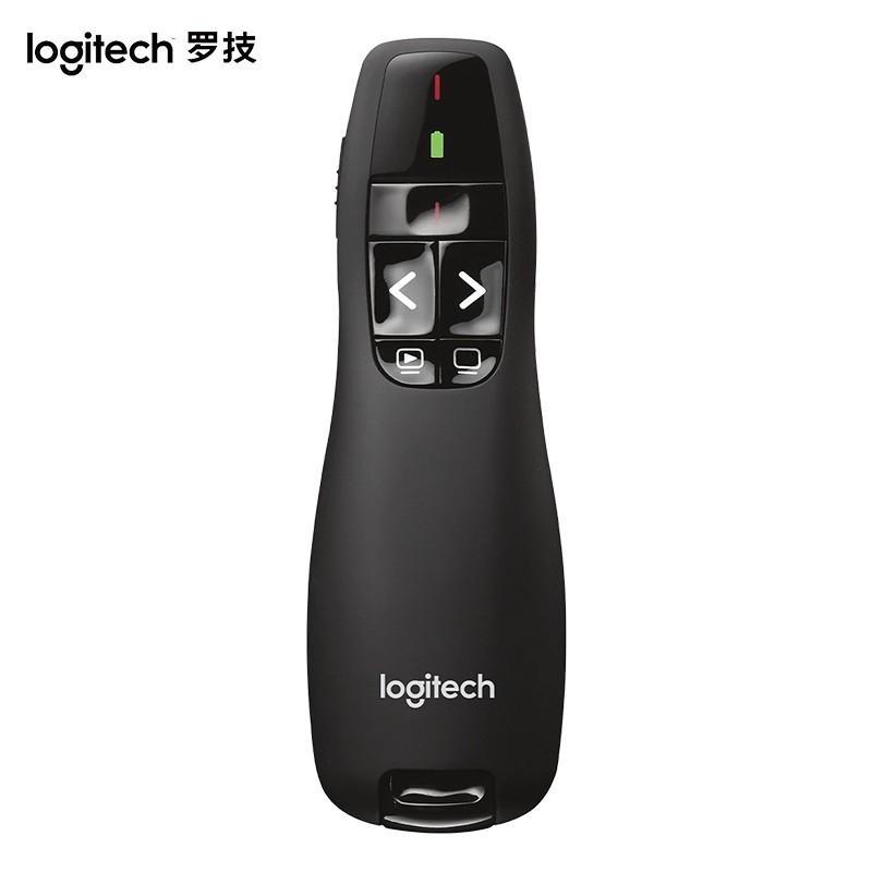 【罗技】无线演示器ppt翻页演示笔电子笔投影仪遥控笔 R400