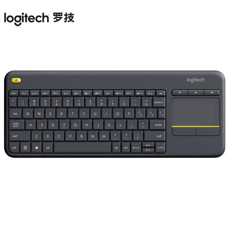 【罗技】安卓智能电视专用电脑笔记本触摸面板无线触控键盘 K400Plus