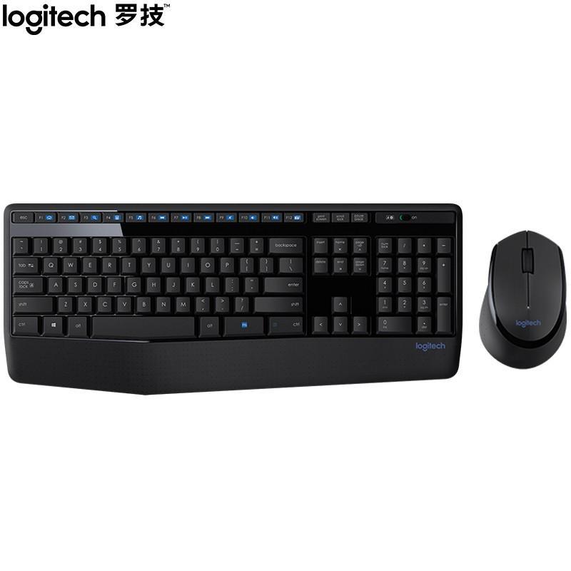 【罗技】无线鼠标键盘套装 防泼溅笔记本台式电脑办公全尺寸多媒体键鼠 MK345
