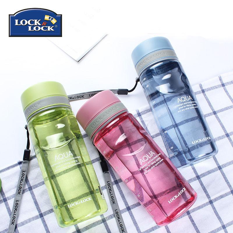 【乐扣乐扣】塑料水杯男女运动水壶夏季学生便携防漏杯子茶杯水瓶600ml HLC635B/G/R