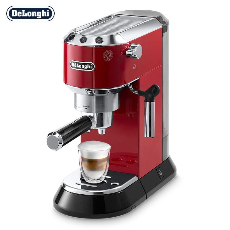 【德龙】(Delonghi)咖啡机半自动咖啡机意式浓缩泵压式泵压式咖啡机红色EC680.R