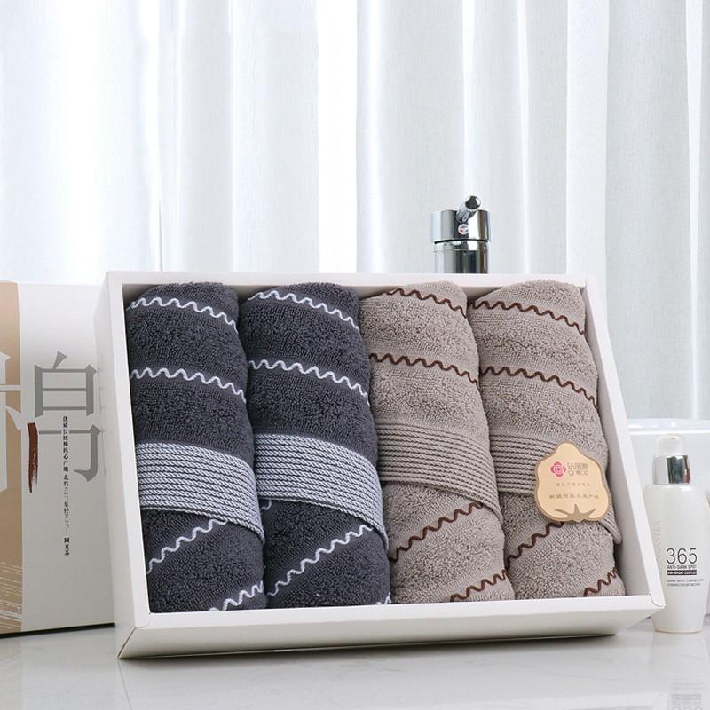 【洁丽雅】半墨西域毛巾四条装 RBL-8986-4