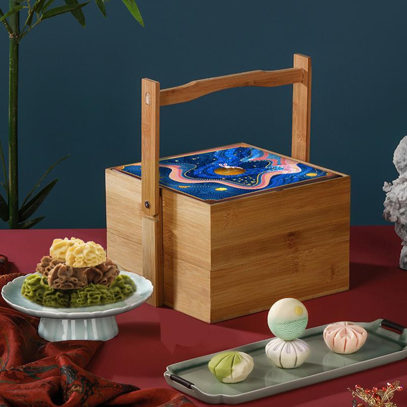 【AKOKO】曲奇月饼礼盒装中秋节双层多口味零食礼品