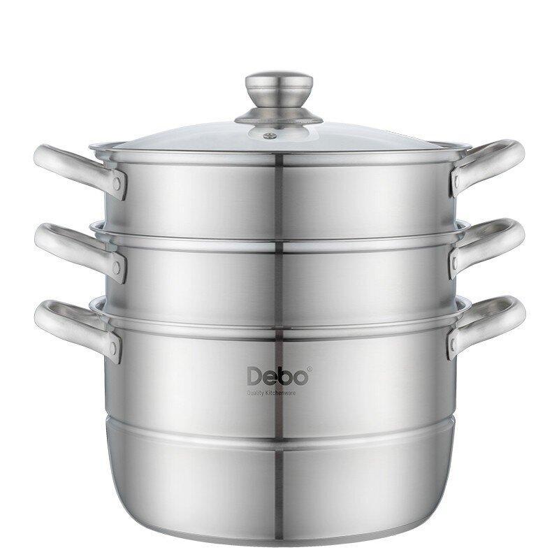 【德铂】Debo沃斯堡蒸锅304不锈钢汤蒸两用锅燃气电磁炉通用DEP-775