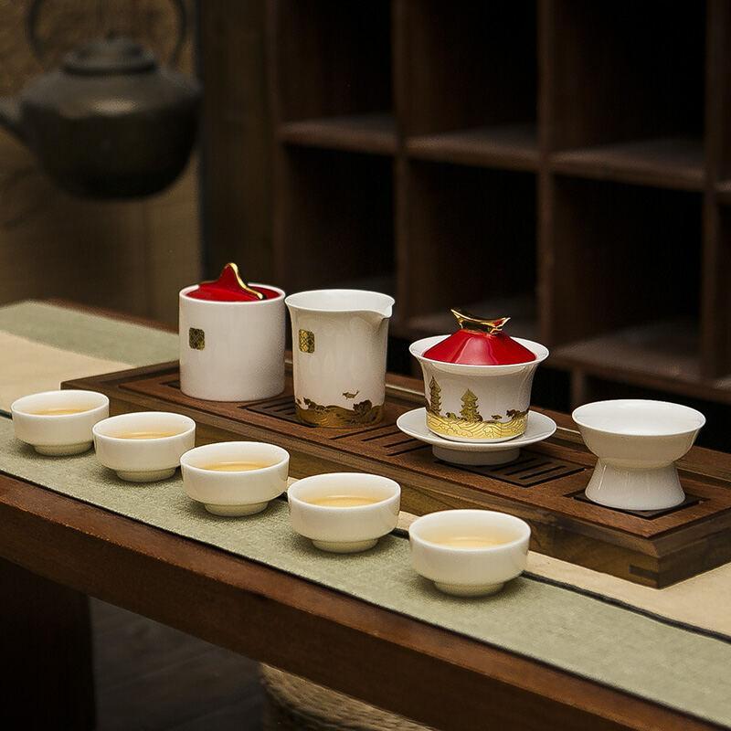 【古时候】金砖国礼茶具套装茶海茶盘茶滤G108