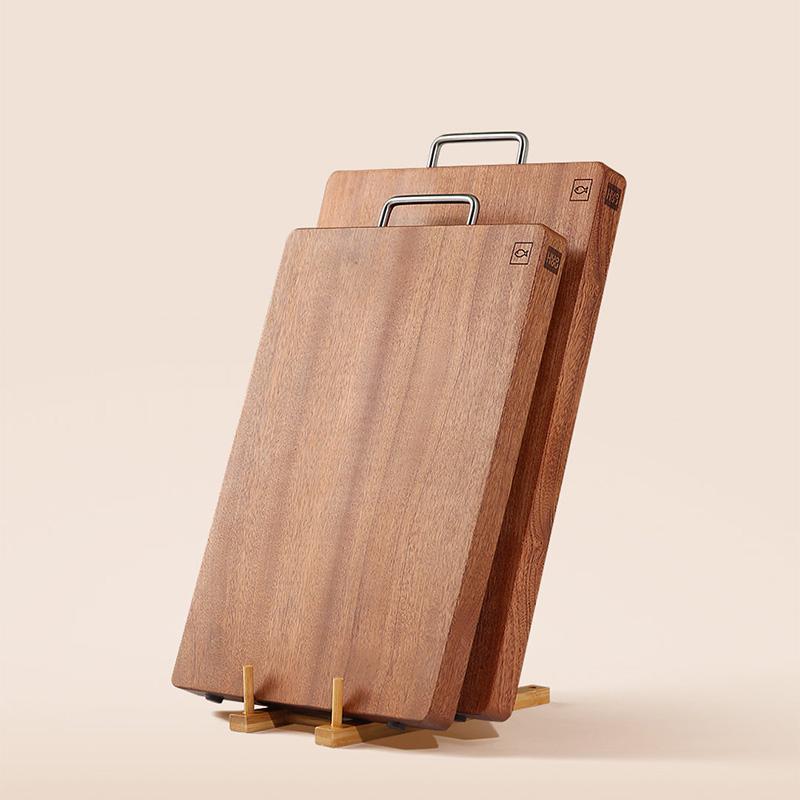 【火候】乌檀木整木砧板实木切菜板防霉案板方形原木家用面板切肉擀面板 HU0019/HU0018