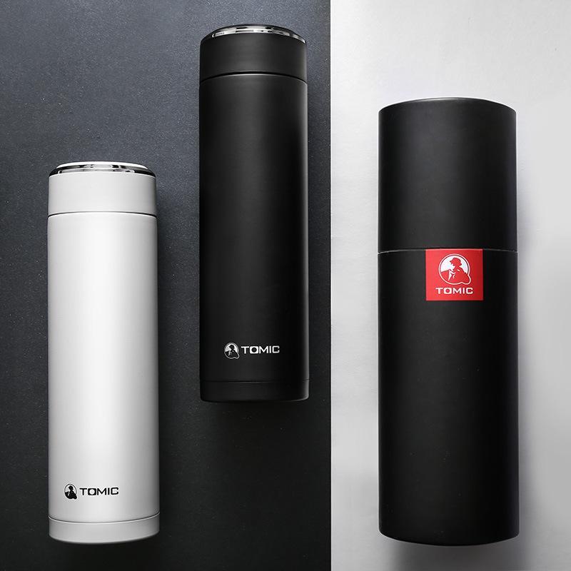 【特美刻】双层不锈钢保温杯便携水杯商务办公泡茶杯500ml TWL9061