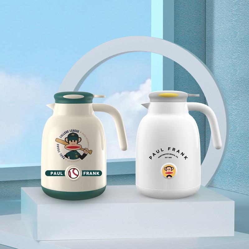 【大嘴猴】真空保温杯玻璃内胆保温壶家用按压式热水壶开水瓶 PFC781-1000