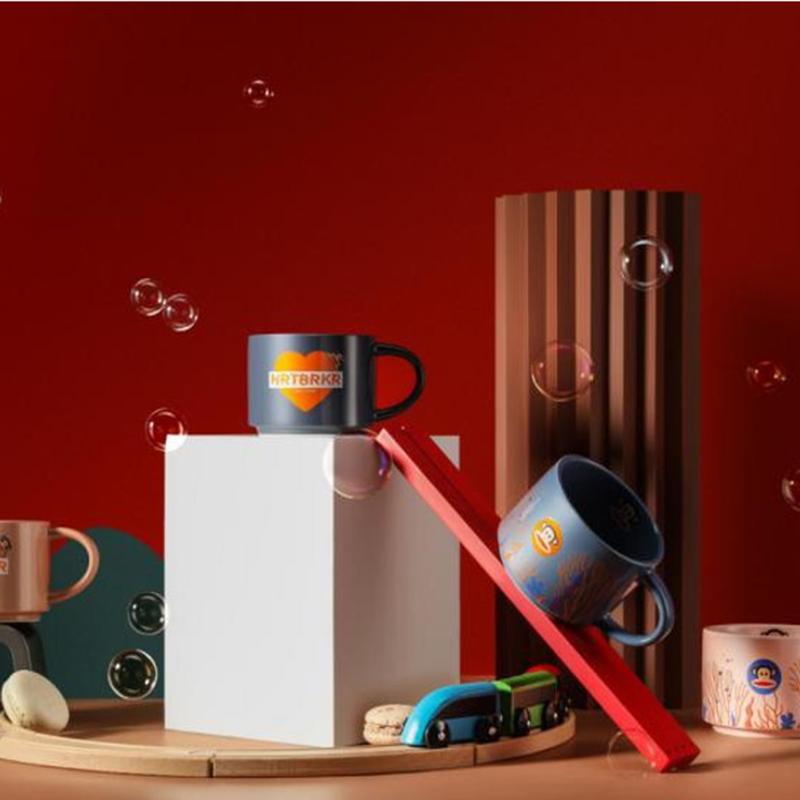 【大嘴猴】马克杯陶瓷杯果汁杯咖啡杯情侣杯水杯300ML PFC509T