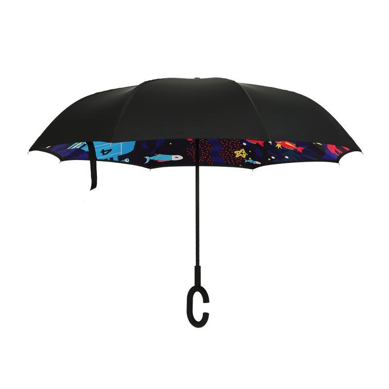 【大嘴猴】反向雨伞汽车载车用雨伞反向伞直杆长柄伞 PFU015