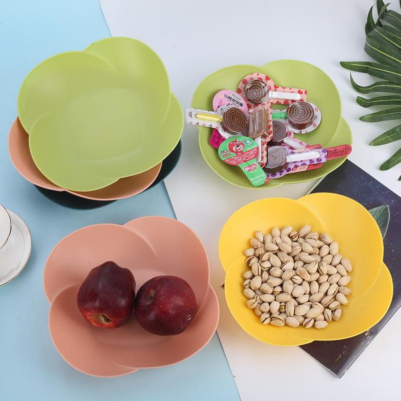 创意花瓣造型果盘家用客厅干果盘瓜子零食糖果水果盘塑料盘子