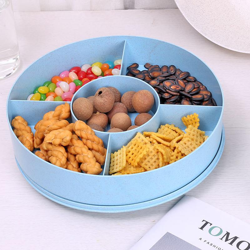 小麦秸秆干果盒分格糖果盒镂空零食盒干果盒果盒