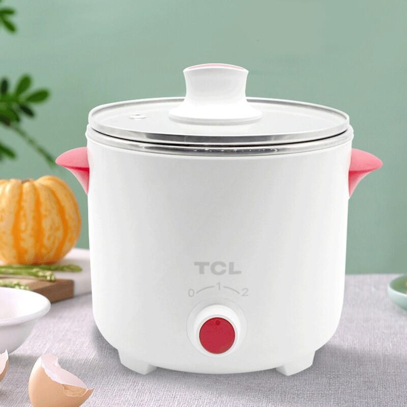 【TCL】妙手多用电煮锅家用办公室宿舍迷你便携电煮锅TA-DZ0612