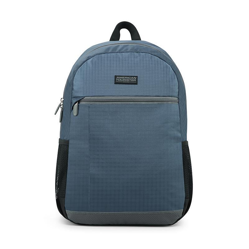 【美旅】双肩包旅行背包都市休闲格纹双肩包蓝色667*41040
