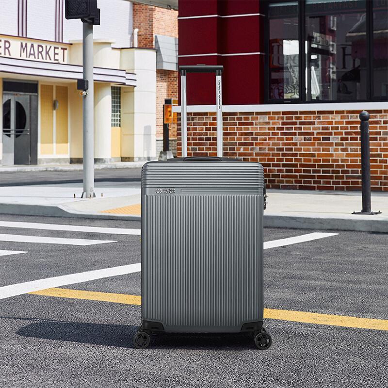 【美旅】八轮旋转拉杆箱56/20青灰色耐磨行李箱TX7*08001