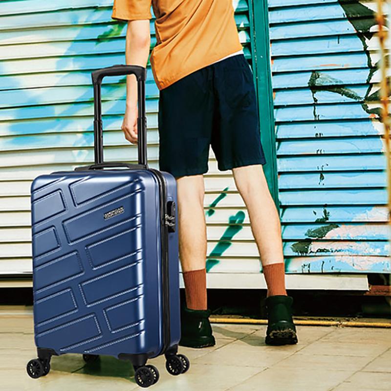 【美旅】八轮旋转拉杆箱深蓝色55/20大容量行李箱NC5*41001