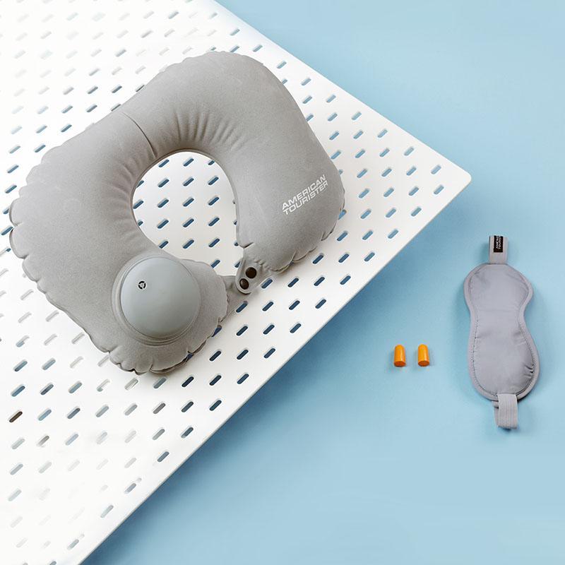 【美旅】旅行三件套遮光眼罩充气旅行U型枕头防噪音耳塞673*08008