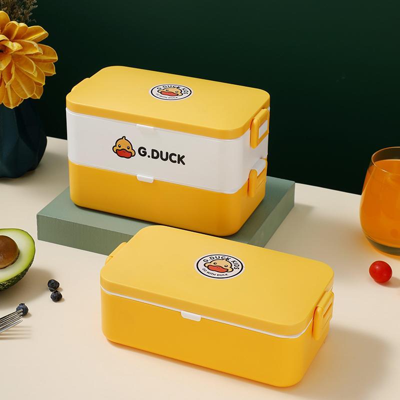 小黄鸭方形保鲜饭盒304/316不锈钢内胆XHY0012/XHY0015/XHY0011/XHY0014