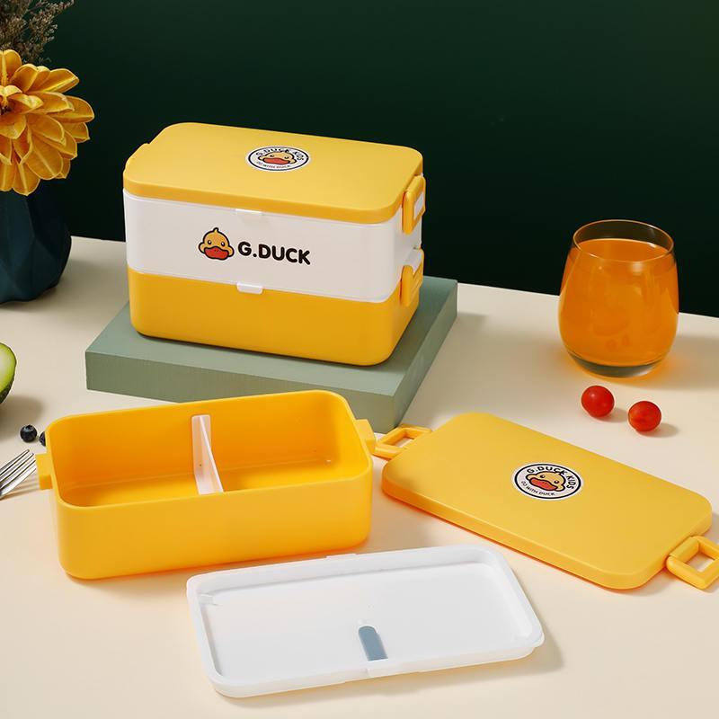 小黄鸭方形保鲜饭盒食品可接触PP安全无异味XHY0010/XHY0013