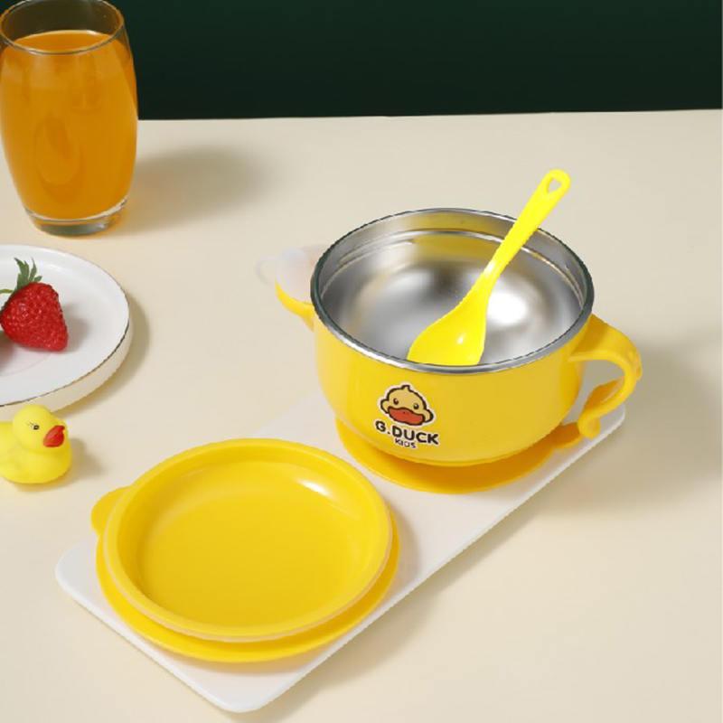 小黄鸭可拆式注水碗餐具XHY0023