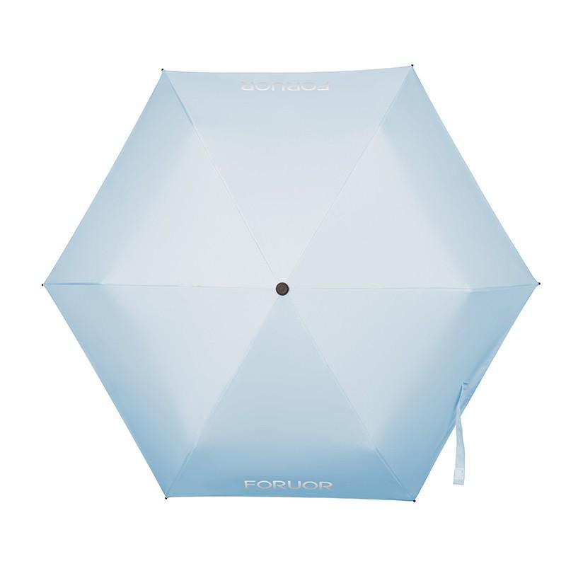 【FORUOR】宝贝蓝mini晴雨伞便携太阳伞防晒防紫外线遮阳伞折叠雨伞 FU-HJJ680