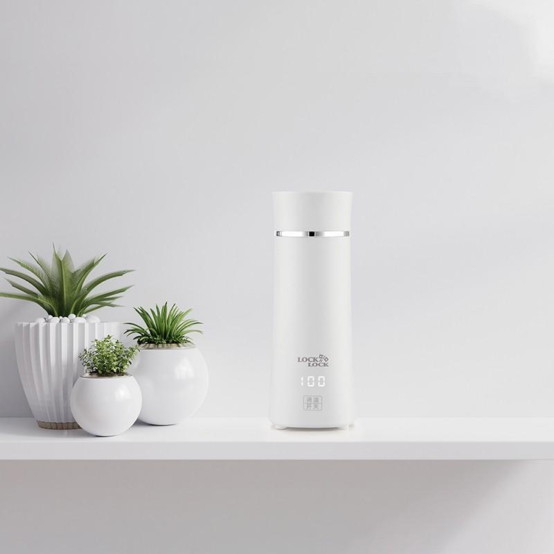 【乐扣乐扣】电热杯小巧便携式家用旅行办公室电热水壶 EJC1717WHT