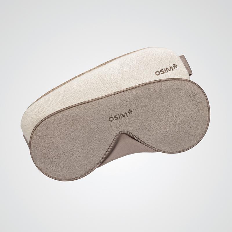 【傲胜】护眼仪眼部按摩器眼罩轻巧无线轻柔震动按摩器卡其色 OS-141