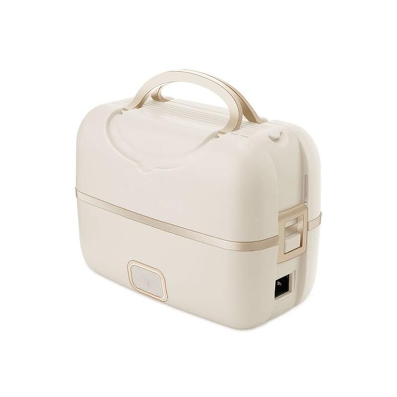 【美膳雅】电热饭盒插电式加热饭盒双层热饭神器不锈钢电热保温盒 CLB-01TCN