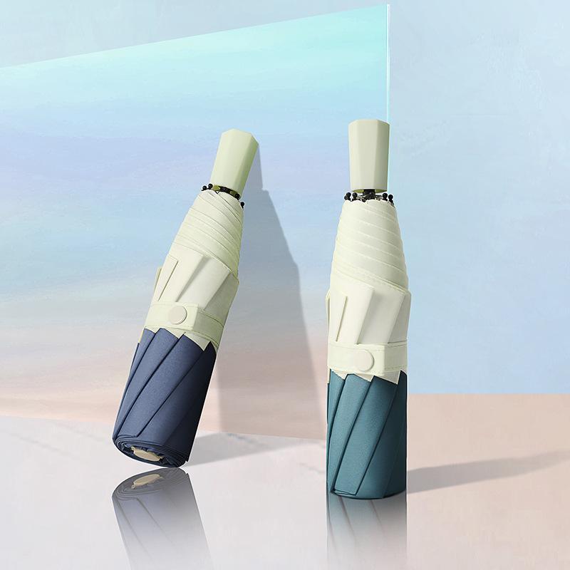 创意新款韩系小清新接边拼接三折伞晴雨折叠伞广告雨伞