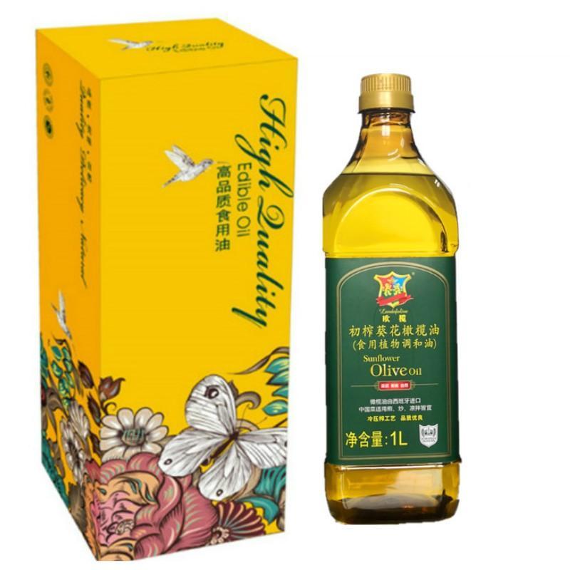 【欧榄】初榨葵花橄榄油1L礼盒装 D27