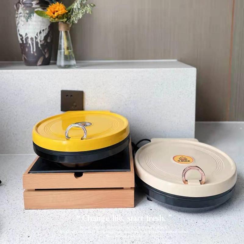 小黄鸭电饼铛家用双面电饼铛悬浮式双面加热机械式34cm