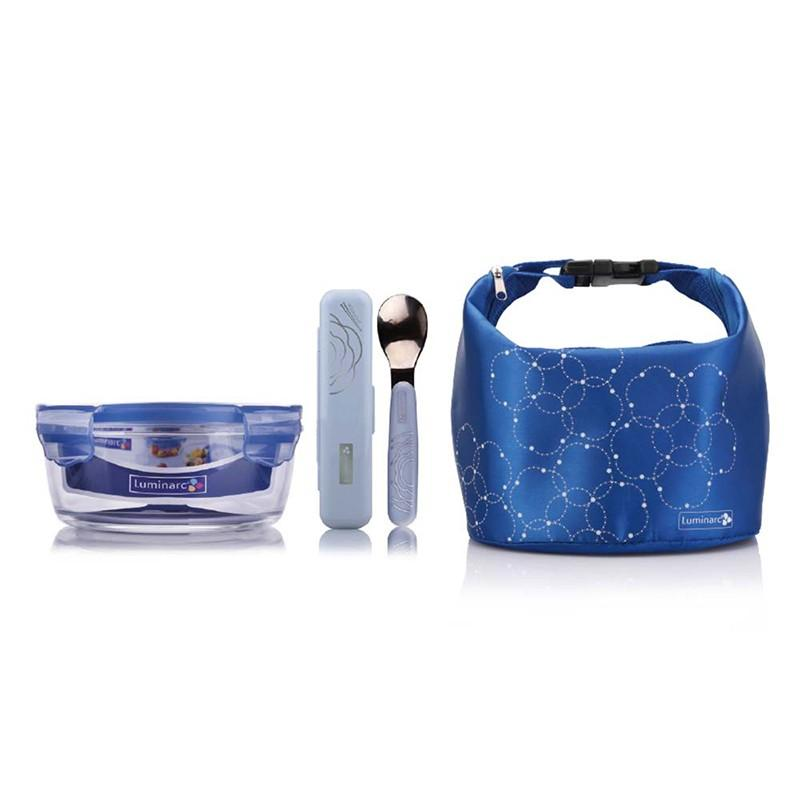 【乐美雅】凡尔赛三件套保鲜盒餐具勺子LC-S26F/LC-S28F