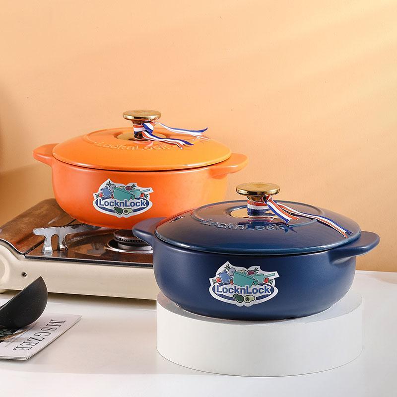 【乐扣乐扣】LocknLock美味煲煲砂锅浅烧锅炖锅耐热陶瓷煲药锅CCG3256/CCG3406