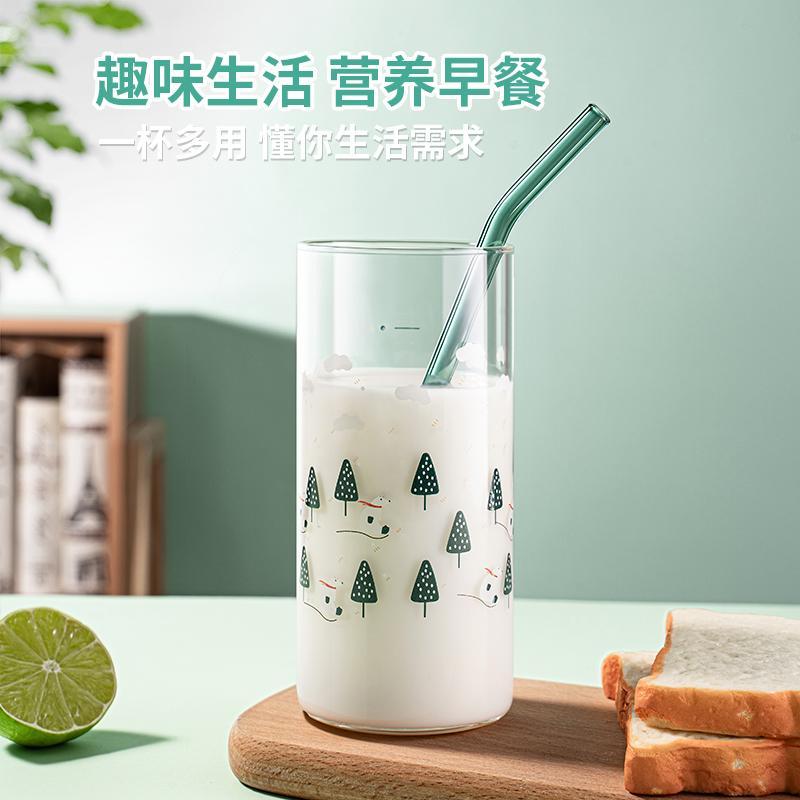 【绿珠】瑞雪丰年耐热防炸裂单杯玻璃杯水杯C038/A1056/花信年华A1055