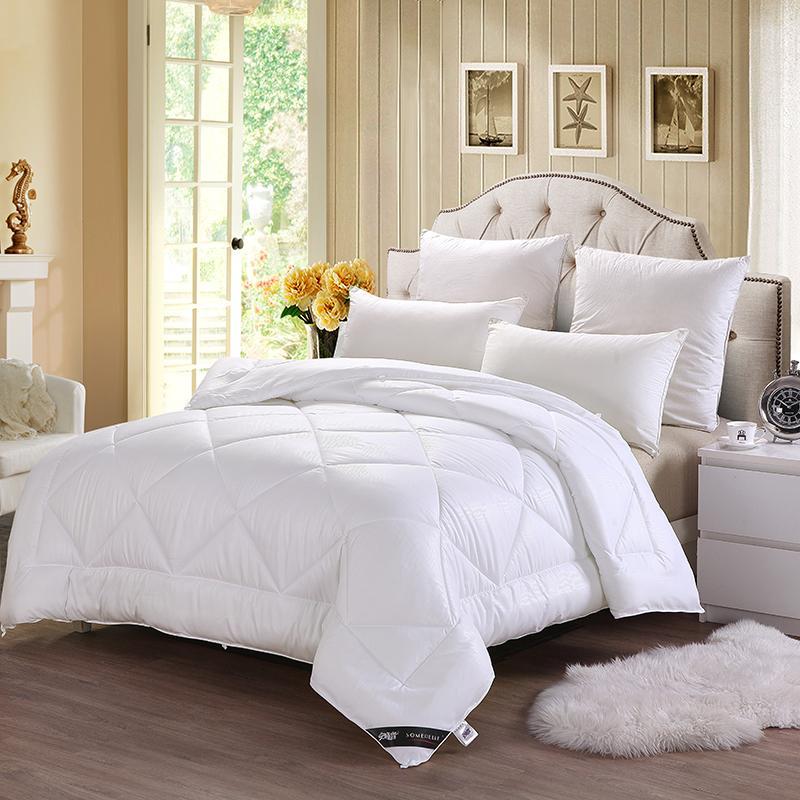 【安睡宝】悠眠柔绒提花纤维春秋被保暖棉被褥单人学生春秋被芯S97994AC