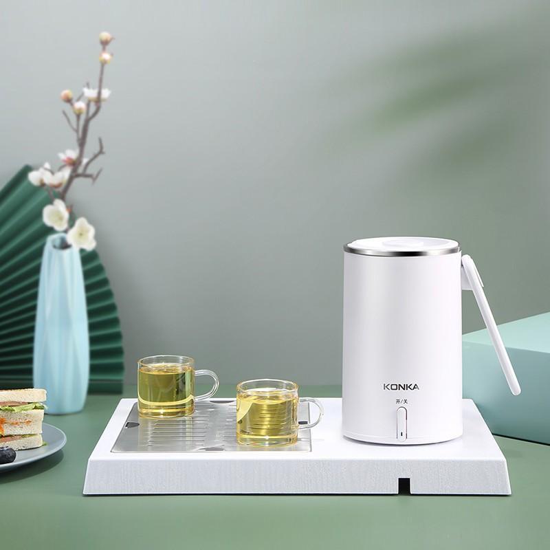 康佳KONKA康佳电热水杯烧水杯泡茶壶茶盘组合KGDZB-06D